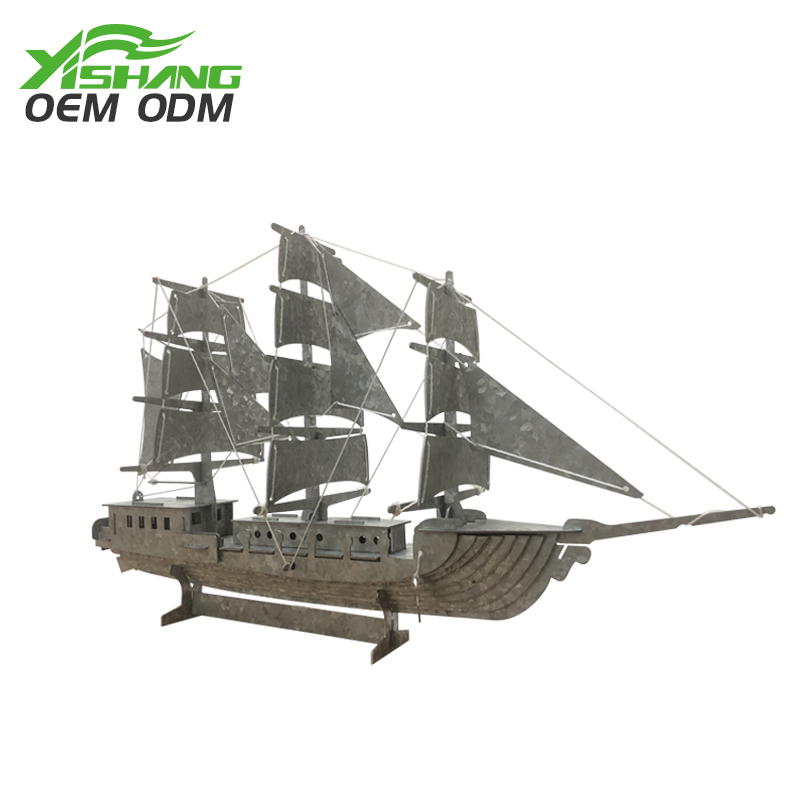 Small metal ship home furnishing decoration pieces personalized family ornaments