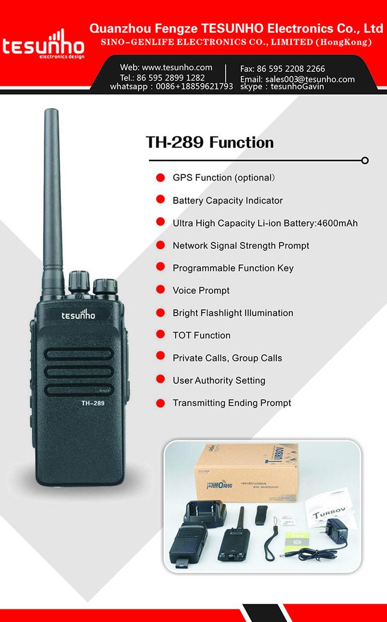 Tesunho Th-289 3g Gps Walkie Talkie With Sim Card Two Way Radio ...