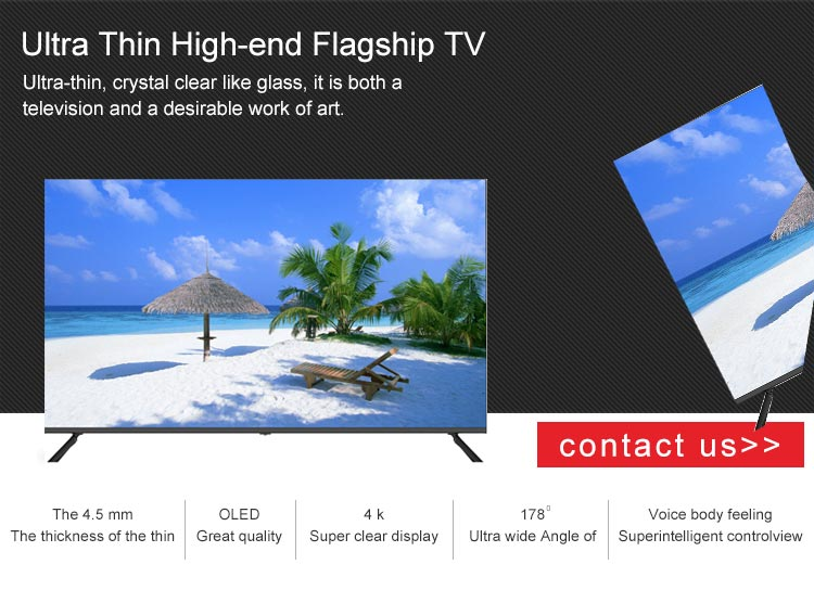 Big HD Full Screen No Border Frame TV Television 4K Smart LED TV 55 Inch
