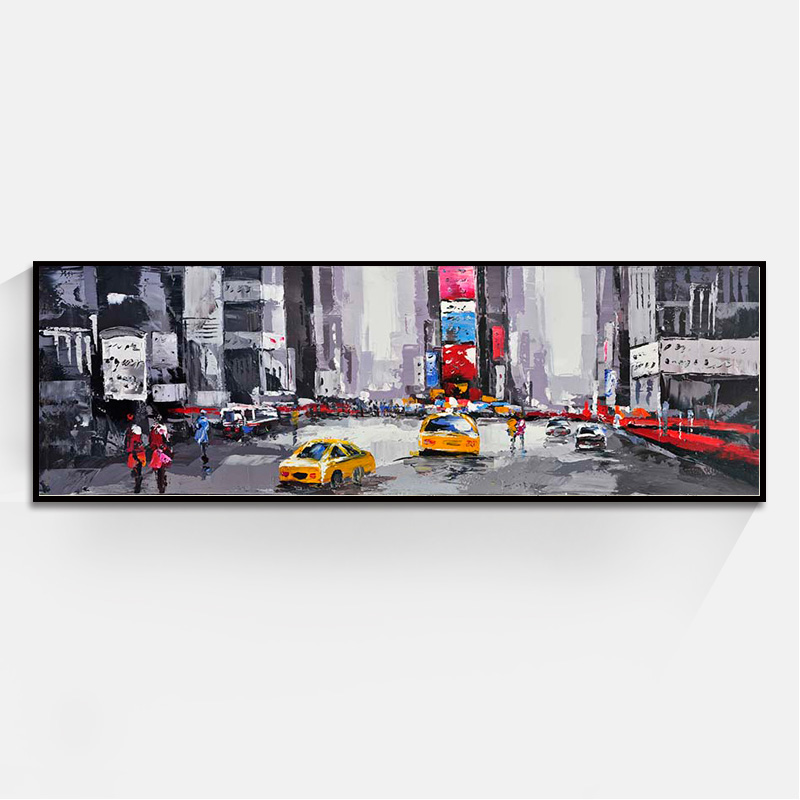 JC Home Decoration Living Room Abstract Europe Street Landscape Oil Painting On Canvas LAN-35