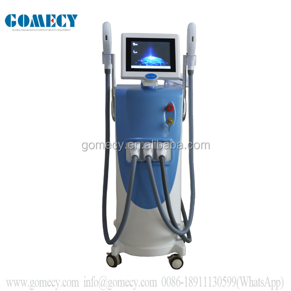Opt hair removal machine IPL OPT SHR Beauty Equipment With three headpiece