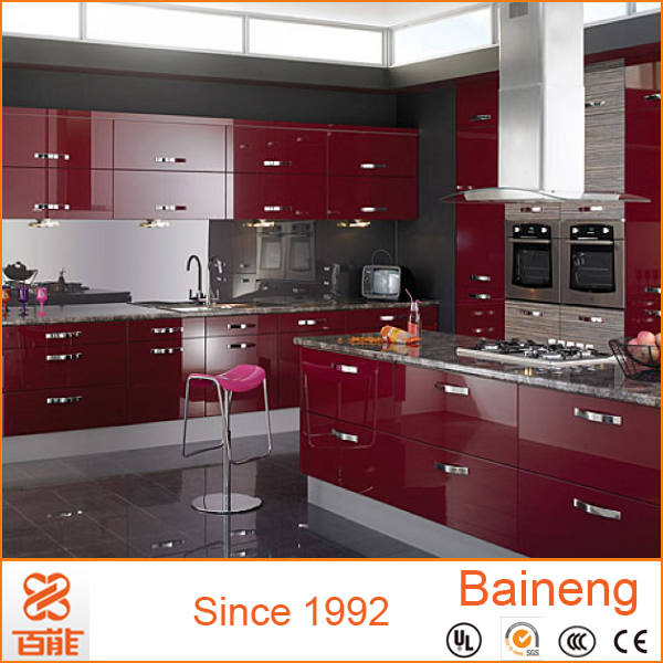 High Gloss Red Kitchen Cabinet Dubai Designs Of Hanging Cabinets
