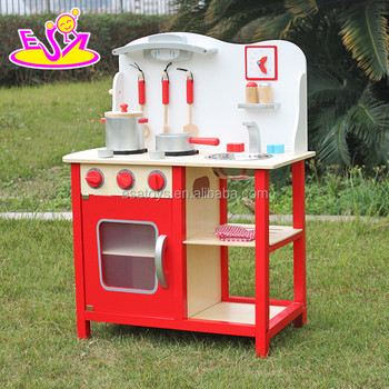 best sale pretend play wooden kitchen toys for toddlers w10c133