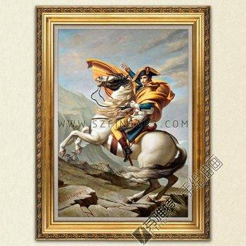 Napoleone attraversando le Alpi dipinto di Jacques Louis David riproduzione D/'ARTE