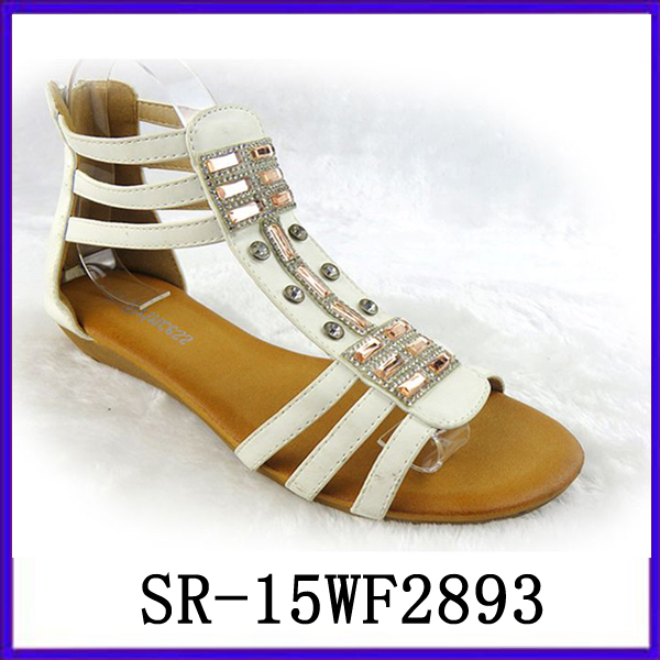 New Design Strappy Flat Sandals Sandals Trendy Ornament Sandal ...