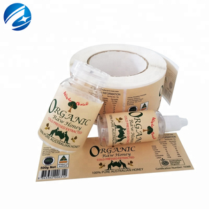 Food Supplements Roll Custom Printing Glossy Private Food Jar Seal Sticker  Bottle Label