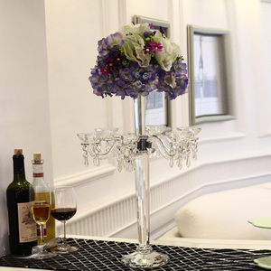 Wholesale K9 wedding crystal candelabra centerpieces for tables