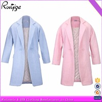 2015 New Ladies Collar Hooded Coats for Warm Winter Women Long Jacket with Zips on left side