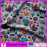 Custom print cotton jersey fabric,cotton lycra castle print for baby