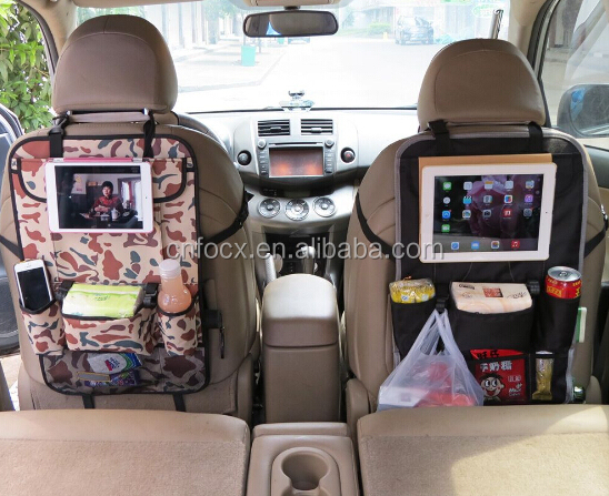 hot sell car seat back organizer for ipad / car seat back storage / Car Back Seat Hanging Tablet Storage
