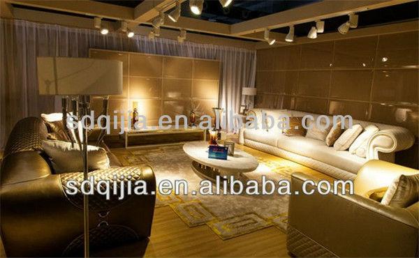 Hot modernen high-end-italienisch Stil Luxus weiß wohnzimmer ledersofa-Wohnzimmer Sofa-Produkt ...