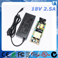 Rcm 45w 18v 2.5a Power Supply Ac 100v-240v Input Ac-dc Adapter ...
