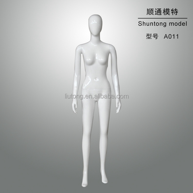 glossy white egg head big breast full body female posing lifelike mannequin for sale