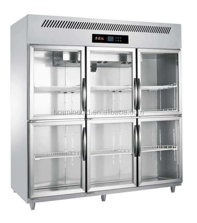 High Quality 3 Big Door Luxury Kitchen Freezers For Meat/commercial Fridge