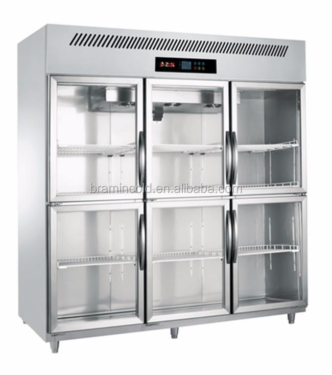 High Quality 3 Big Door Luxury Kitchen Freezers For Meat/commercial Fridge
