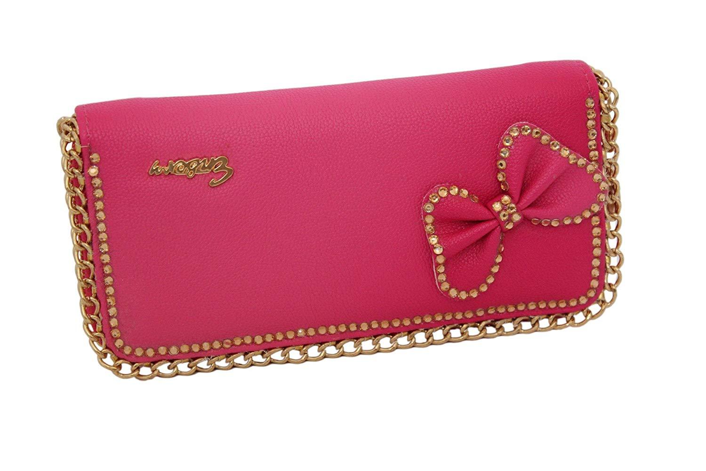 909582fb0554 Ladies Zip Around Diamante Butterfly Design Purse Wallet Clutch Bag Handbag
