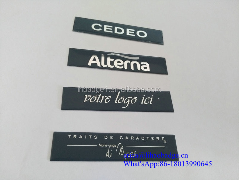 laser engraved company logo sticker