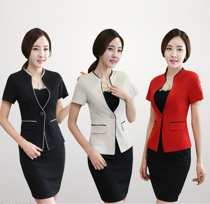 Buy S-XXXL Spring Summer Women Career Suits Short Sleeve ...