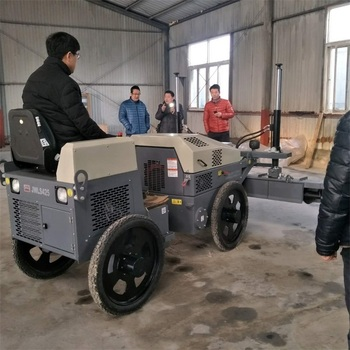 price of wheeled laser road paver leveling machine with two wheels use in concrete floor