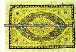 Wall Hanging Jewel Carpet Decorative Rug Wall Hanging Semi Precious Stonework silk Jewel Carpet