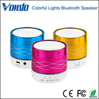 Vondo Colorful Lights Mini Wireless Bluetooth Speaker 3W Metal Steel Music Amplifier With FM Radio MP3 Player Support SD Card
