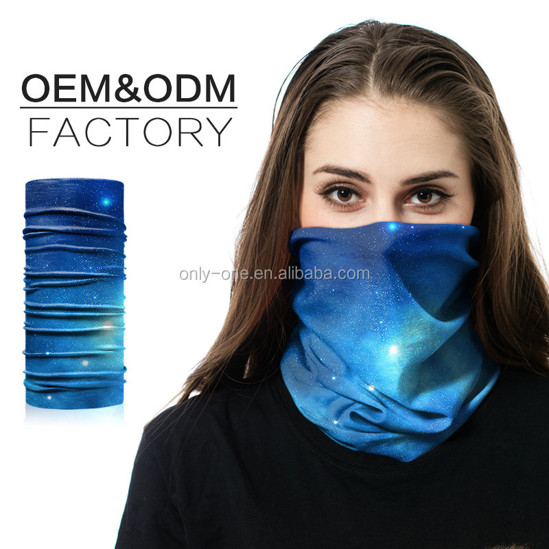 Custom Design Headbands Tubular Seamless Polyester Stretch Ghost Head Headwear