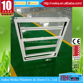 Aluminium house used soundproof double tempering glass double hung window