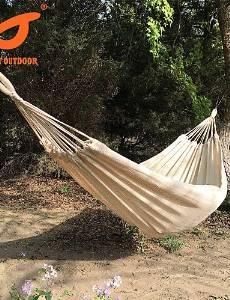 BO SWIFT Outdoor? 100% Cotton mesh outdoor 2 Person Portable Rope Hammock Camping Hammock