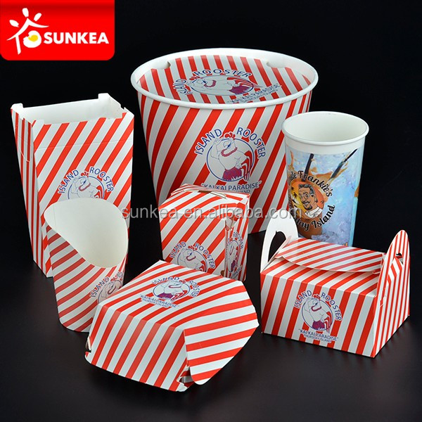 Chinese Take Away To Go Box Food Pail Party Favor Box