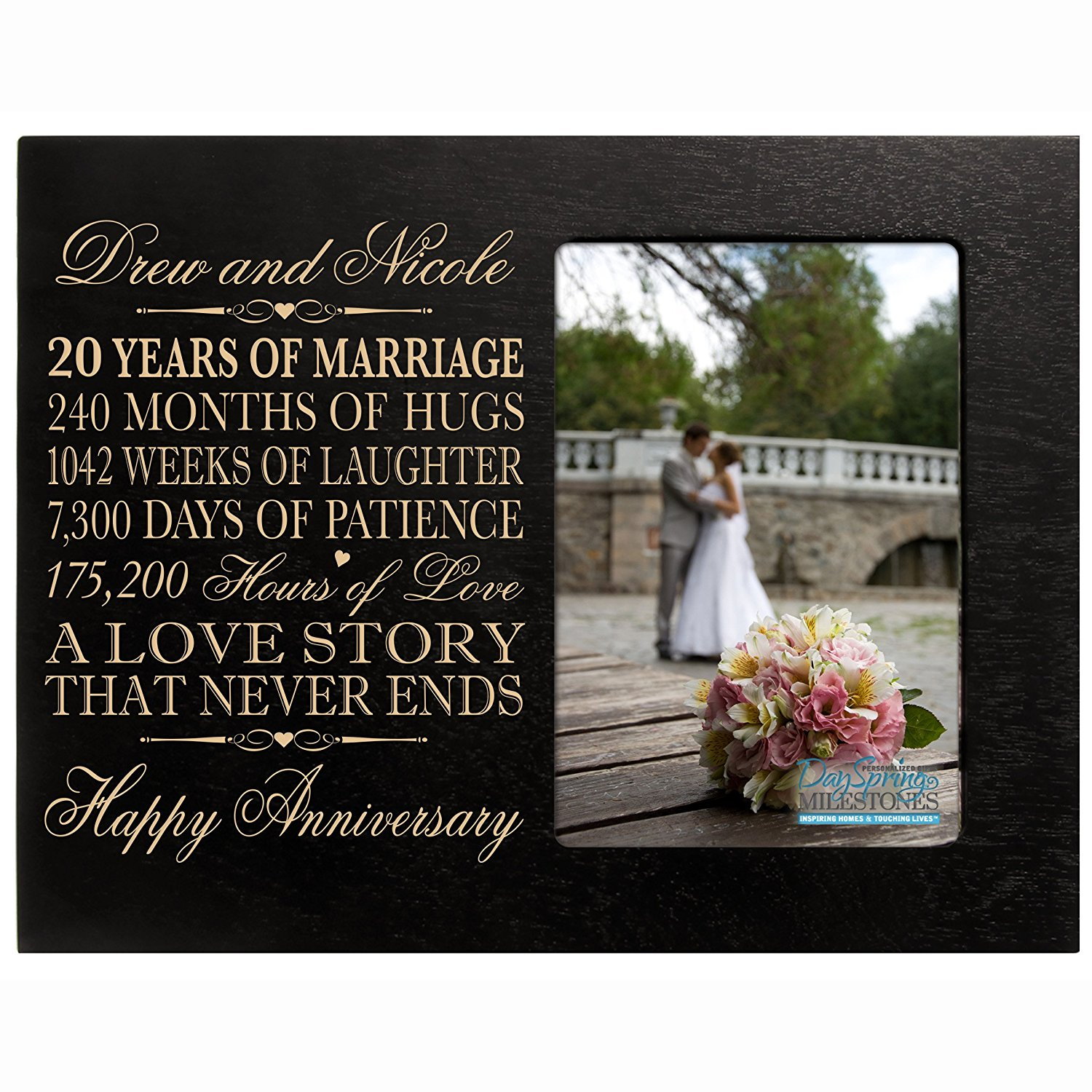 Cheap 20 wedding anniversary symbol find 20 wedding anniversary get quotations personalized twenty year anniversary gift for her him couple custom engraved 20th year wedding anniversary celebration biocorpaavc Choice Image