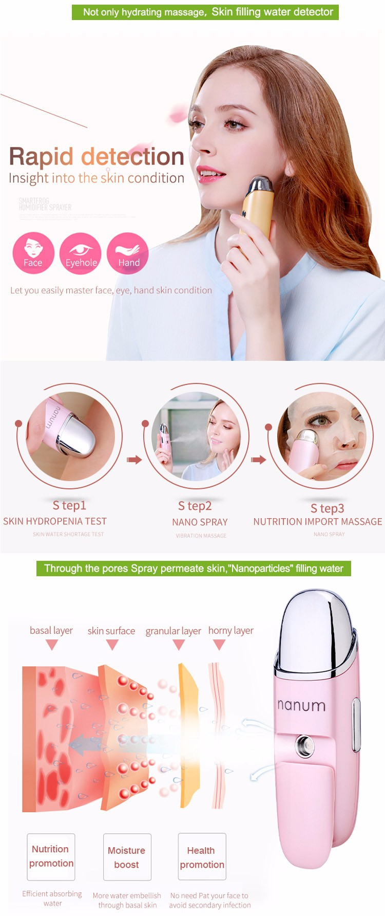 Facial Steamer Nutrition Promotion Portable Mini Skin Care Beauty Equipment