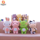 Hot Sales Cute Pig Frog Cow Rabbit Zoo Stuffed Animal Plush Set Toy
