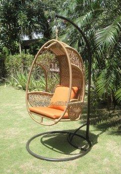 New Design PE Wicker Hanging Egg Chair/ Outdoor PE Rattan Hanging Chair