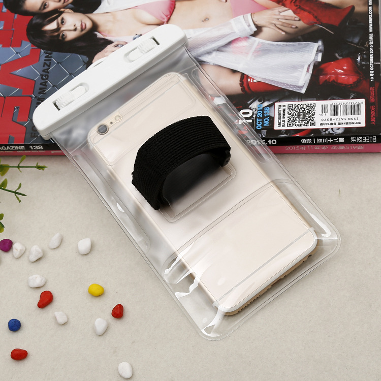 new custom fashion look decorative waterproof phone bag with arm band