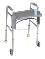disabled Aluminum Folding Walker with Tray