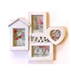 Collage Picture Frames White LOVE Decorative Wall Hanging Artistic 3D Puzzle Style Photo Frame 10 Openings 6 X 4 and 3.5 X 3.5