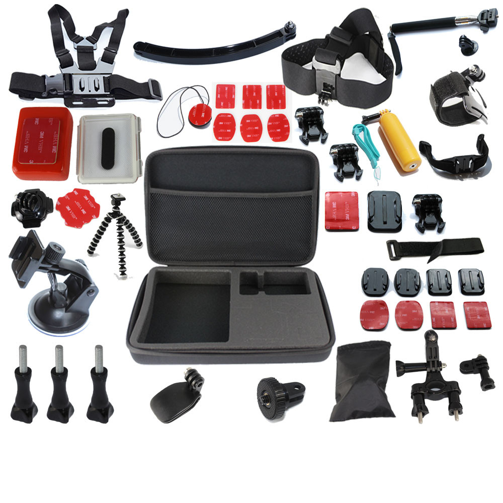Go Pro Hero3 Full Gopro Accessories Mount Digital Mini Cam Tripod Bag Chest