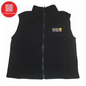 2019 zipper up black color winter sport marathon running cheap custom fleece vest