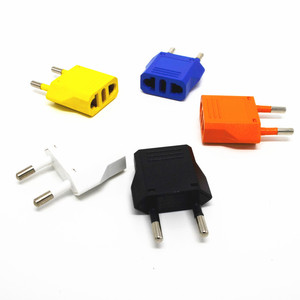 US to EU,Switzerland Plug adaptor plug convertor colorful Travel Adapter multicolor Power Converter Wall Plug Type C