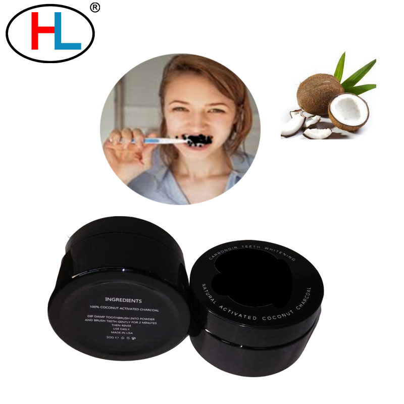 Organic custom teeth whitening charcoal powder toothpaste natural fda