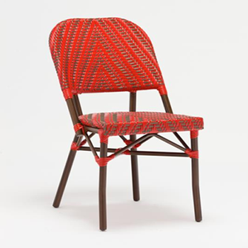 French Bistro Bamboo Cafe Chair Red