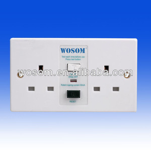 13A Unswithed socket/Weatherproof Safety Socket/RCD protected socket