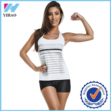 Yihao 2015 Ladies Custom Sports Gym Active Stringer Jersey White Printed Singlet Wear Tank Top Vest Tops