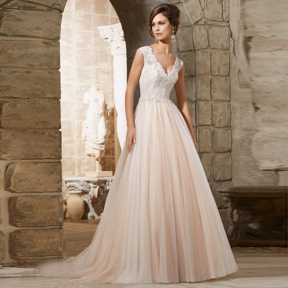 Empire Ball Gown Wedding Dresses: Aliexpress.com : Buy Beautiful Appliqued Good Looking