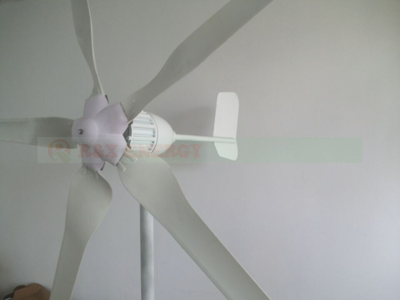 1kw wind generator with 5 PCS blades, 24V/48V low RPM windmill for land and boat