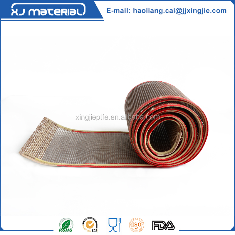 non stick heat resistant PTFE teflon mesh conveyor belt in 1mm