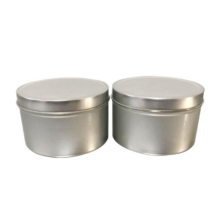 250 ml 8 oz lưu trữ kim loại tin container nến kim loại tin có thể