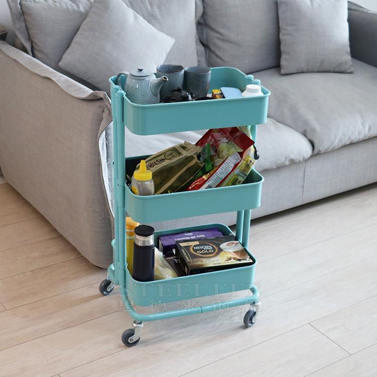 Pink 3 Tier Kitchen Trolley Cart Sewing Storage Ideas ...