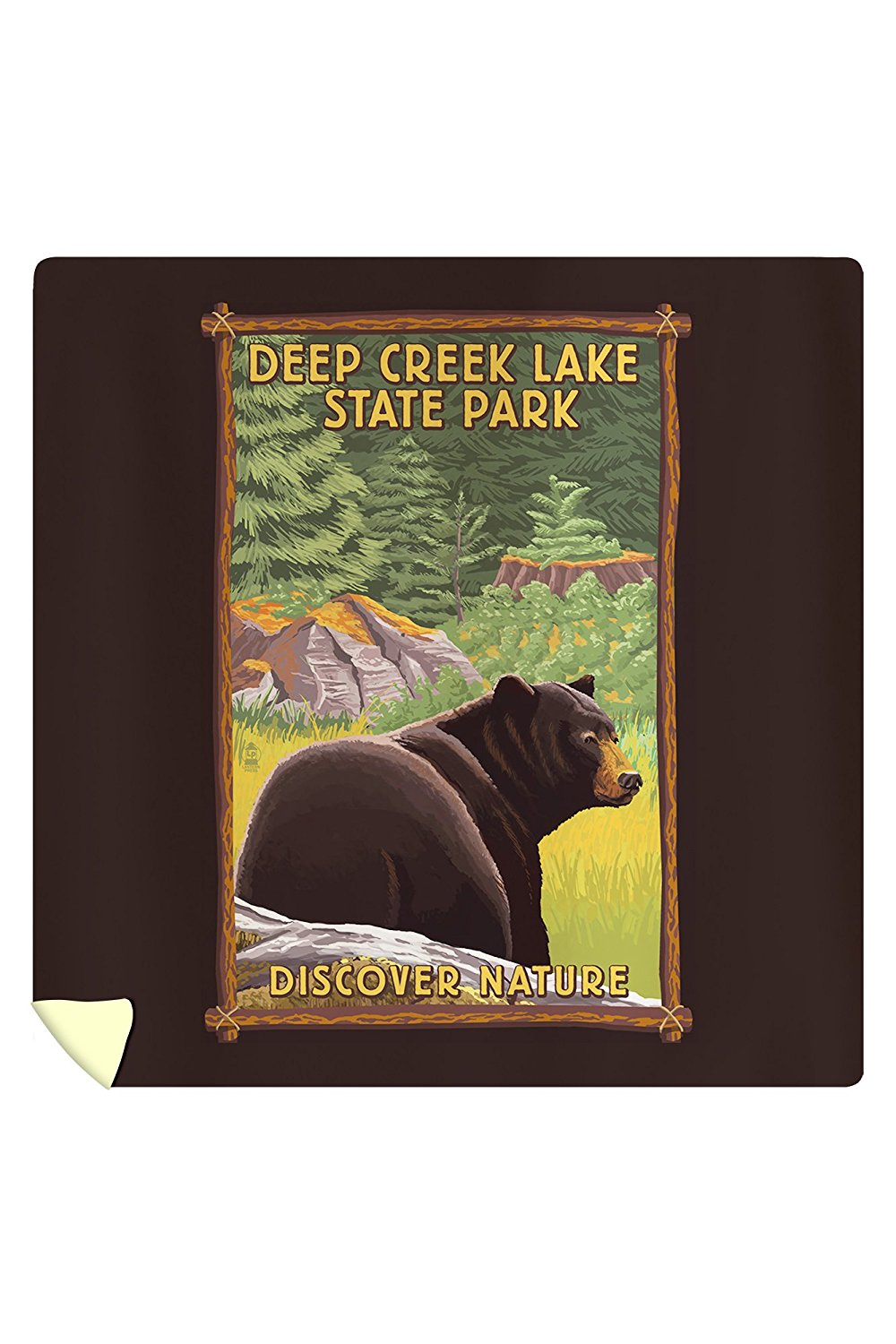 Deep Creek Lake State Park, Maryland - Bear in Forest (88x88 Queen Microfiber Duvet Cover)