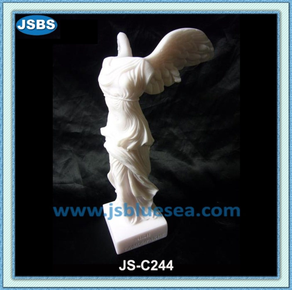 famous stone carved Winged Victory of Samothrace Statue